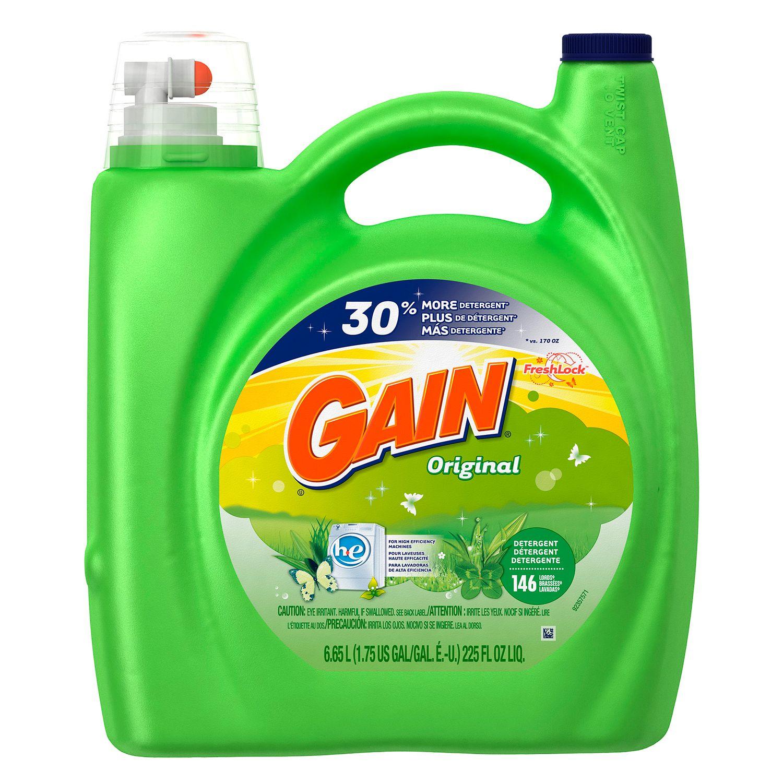 Gain HE Original Liquid Laundry Detergent - 225 oz. - 146 ...